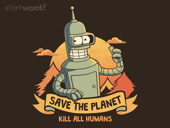 Robot Ecology T Shirt
