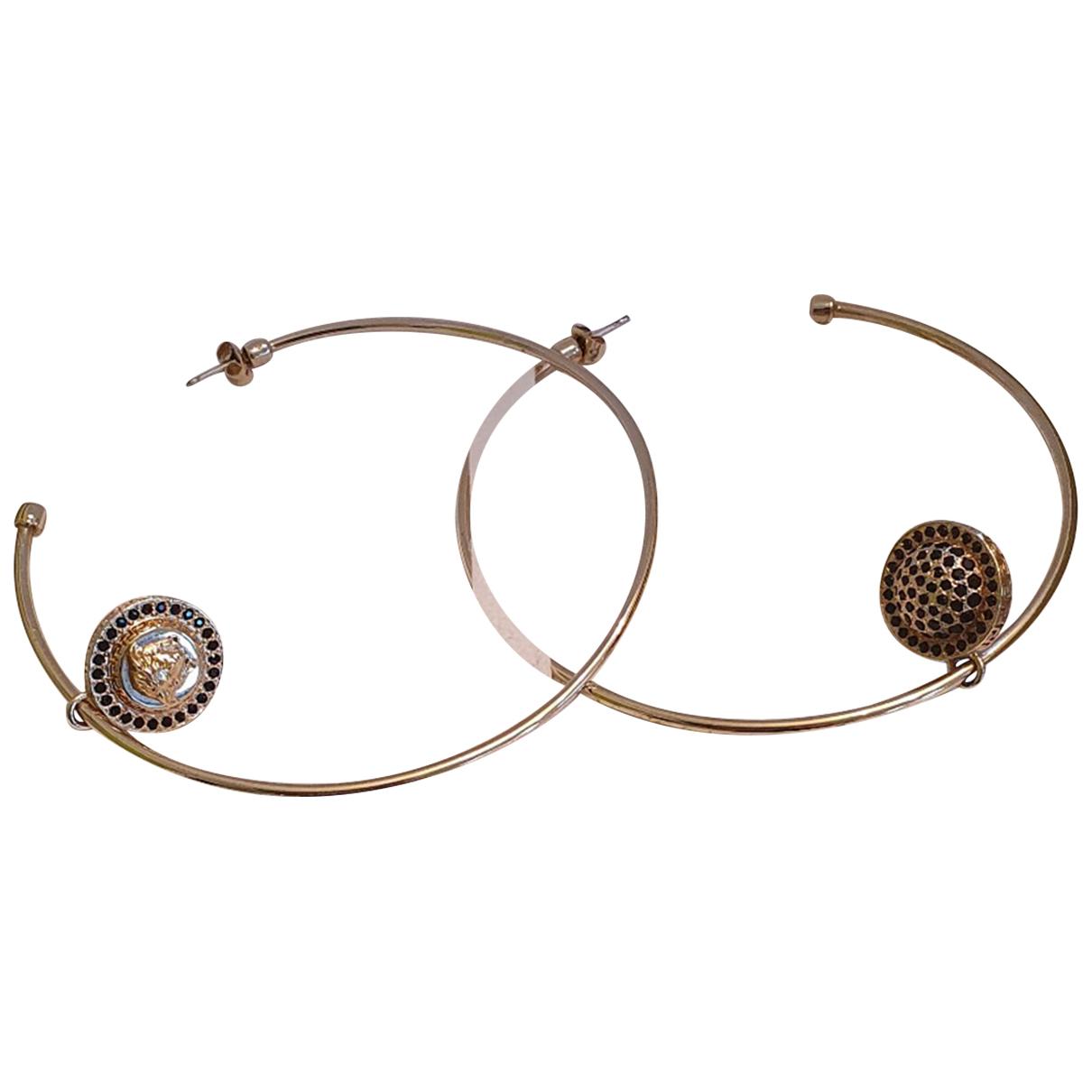 Versace - Boucles doreilles   pour femme en metal - dore