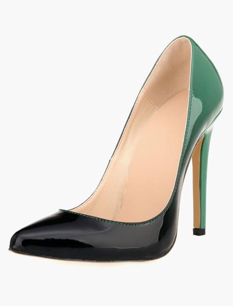 Milanoo Tacones altos Ombre puntiagudos del resbalon de las mujeres Tacones altos Zapatos de vestir