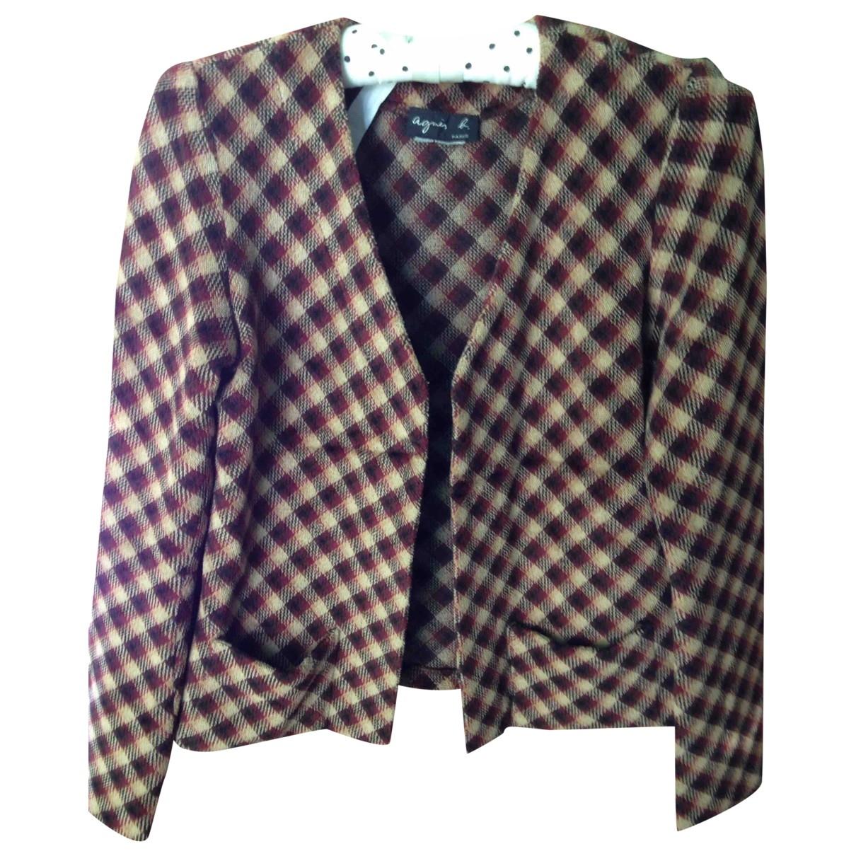 Agnès B. \N Brown Velvet jacket for Women 38 FR