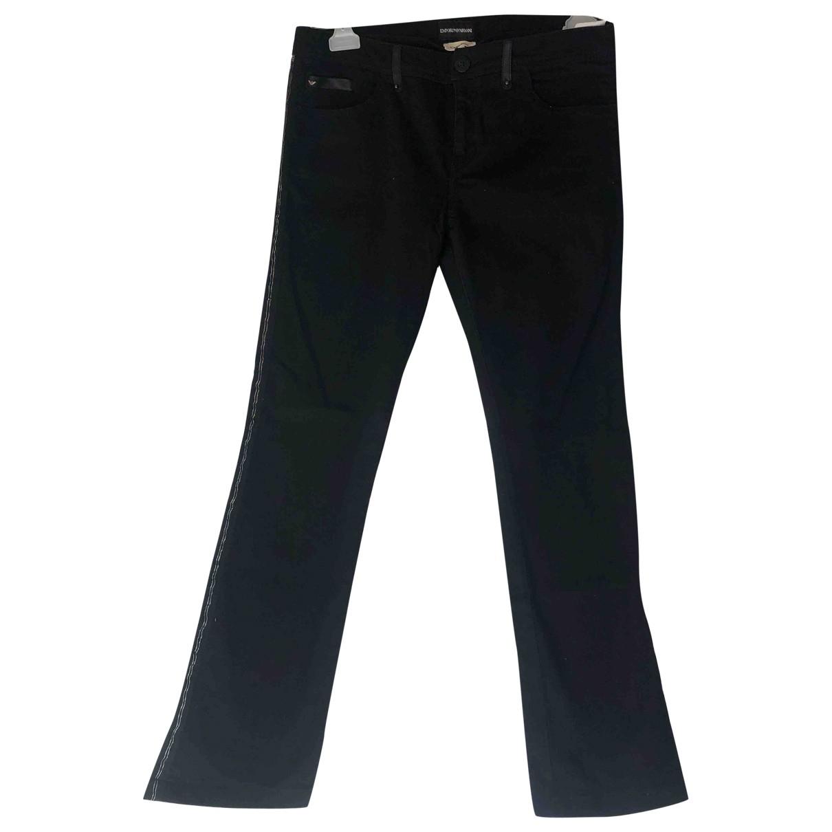 Emporio Armani \N Black Denim - Jeans Jeans for Women 30 US