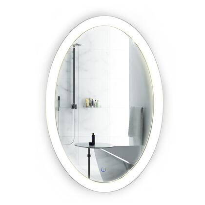 Sol Collection Sol2030 20 x 30 Oval Bathroom Mirror with LED Lighting  Dimmer and