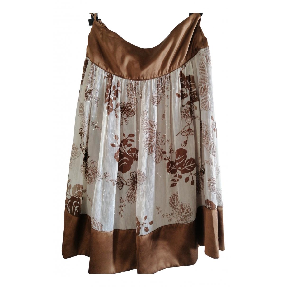 Marella \N Beige Silk skirt for Women 42 FR