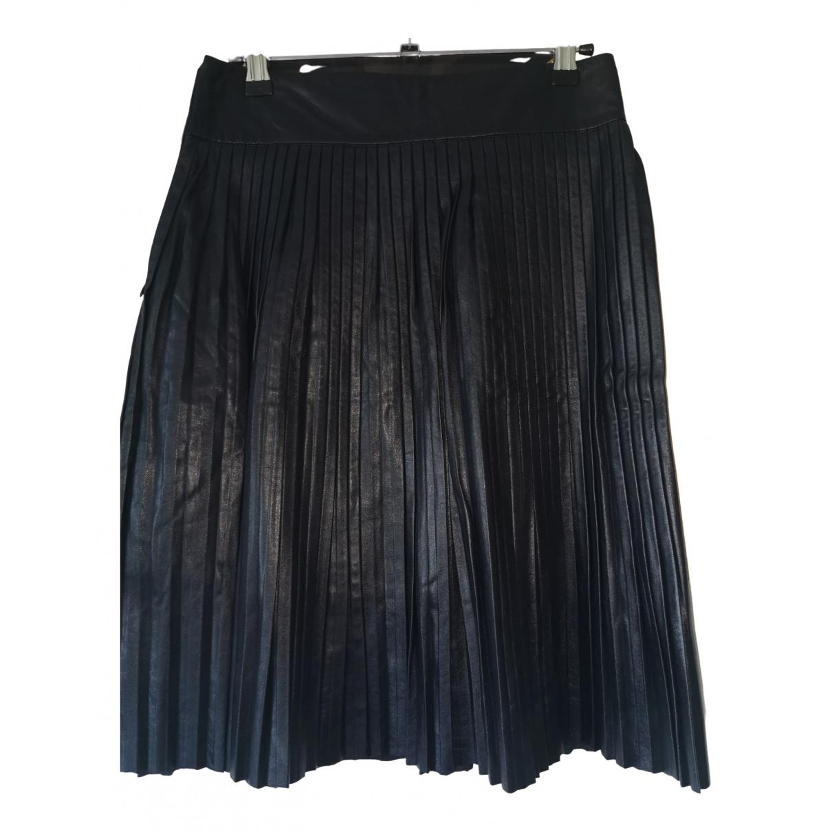 Les Petites - Jupe   pour femme en cuir - noir
