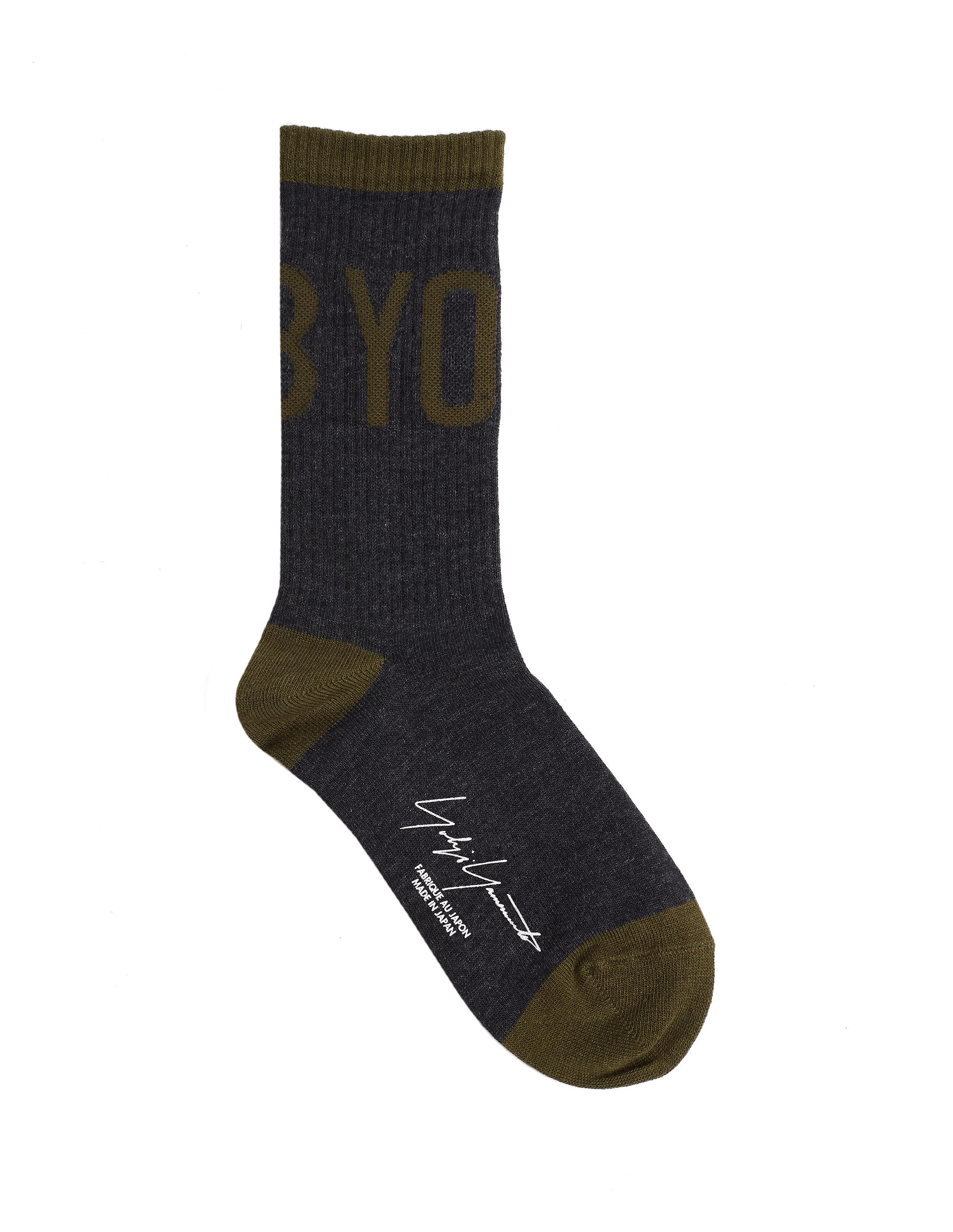 Yohji Yamamoto Grey Cotton Socks