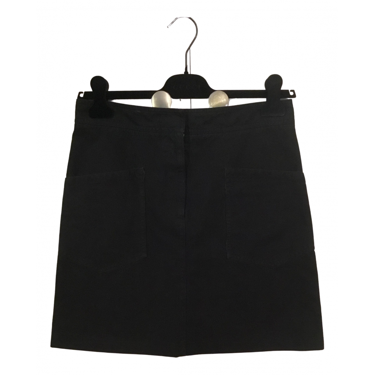 Mm6 \N Black Cotton skirt for Women 42 IT