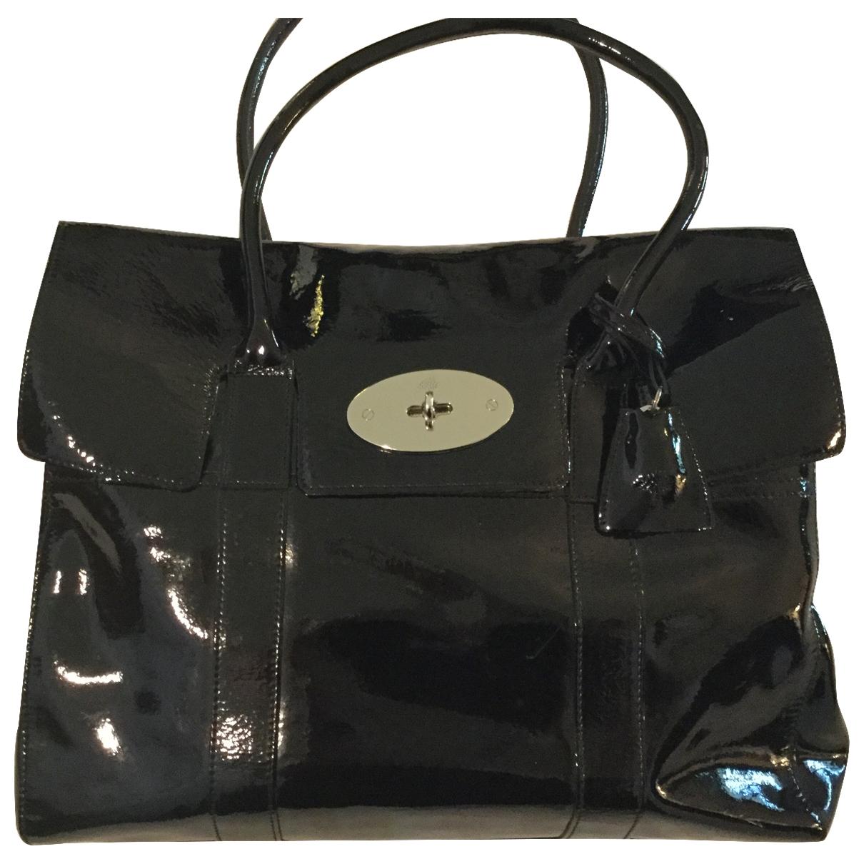 Mulberry - Sac a main Bayswater tote pour femme en cuir verni - noir