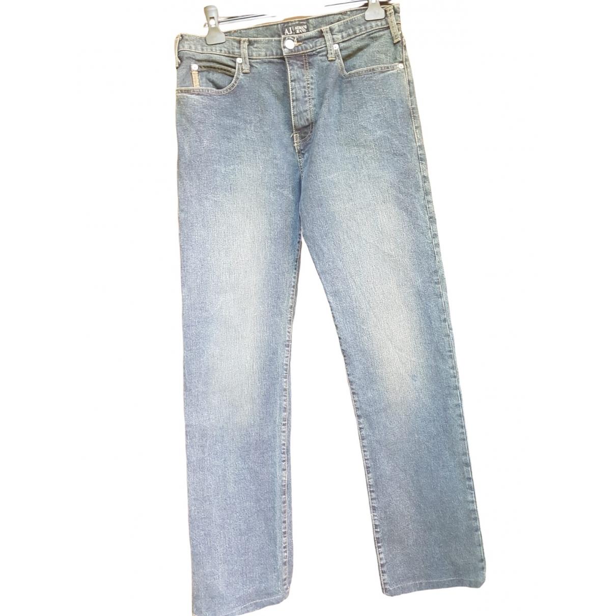 Armani Jeans \N Blue Cotton - elasthane Jeans for Men 34 US