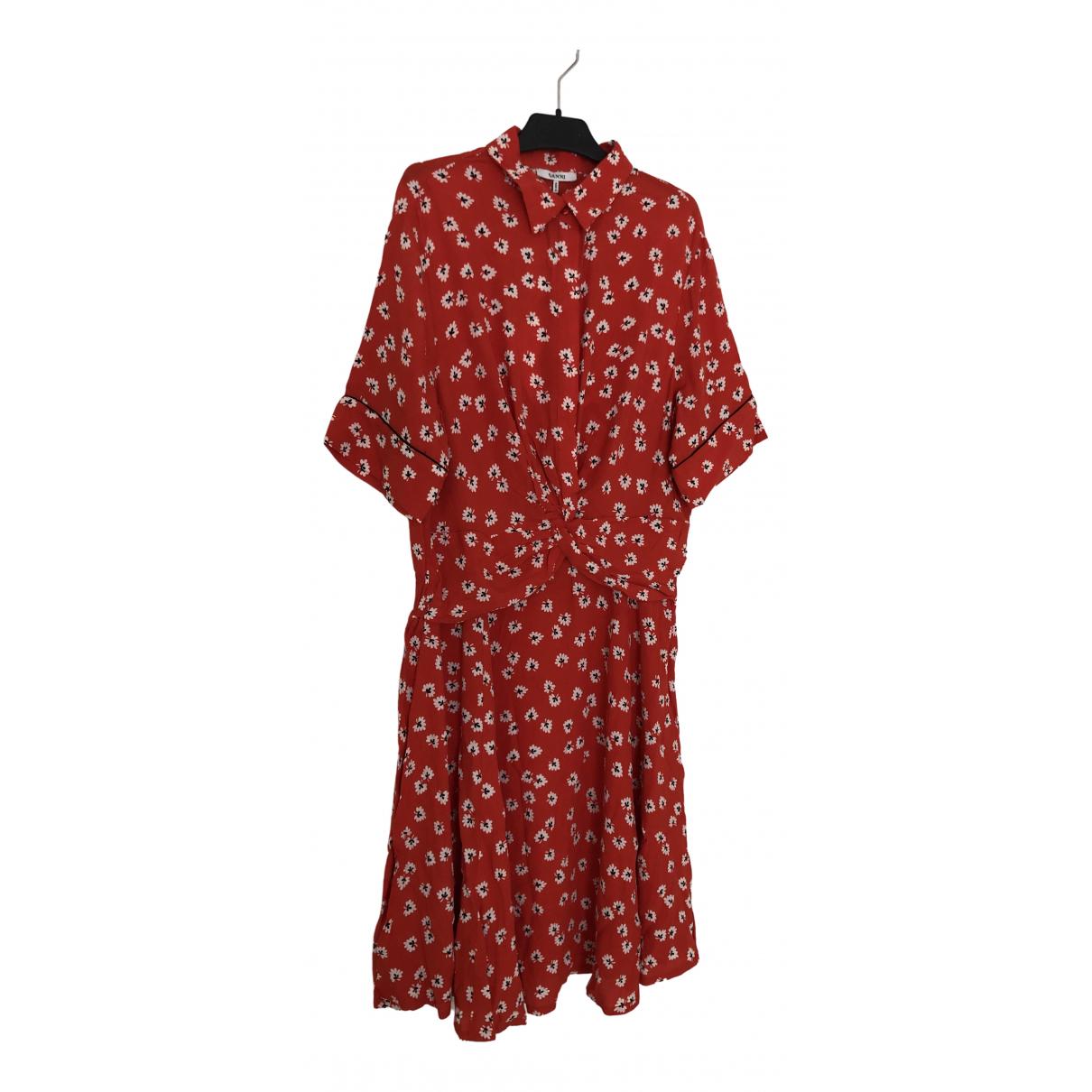 Ganni \N Kleid in  Rot Viskose
