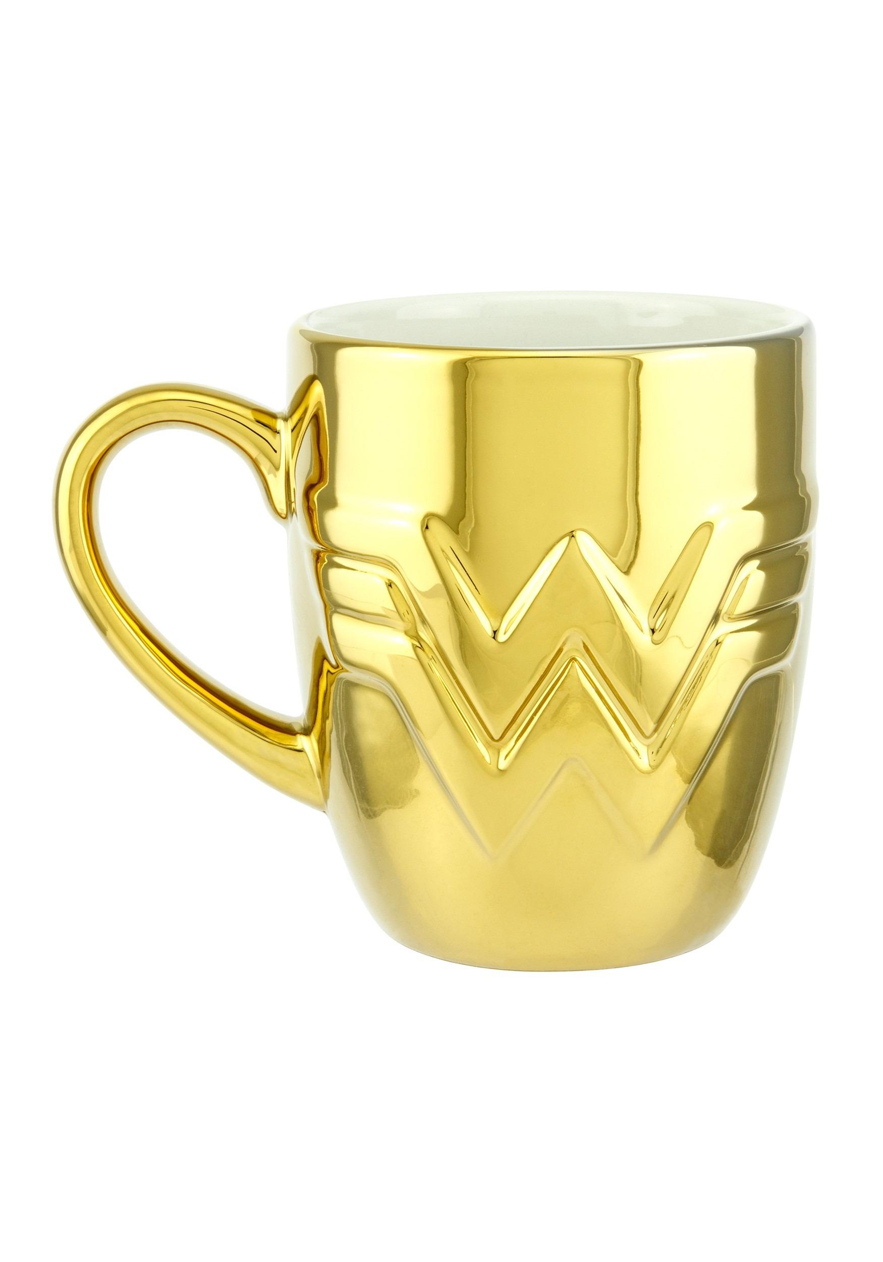 Wonder Woman 1984 Logo Gold Mug