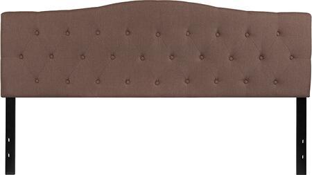 HG-HB1708-K-C-GG Cambridge Tufted Upholstered King Size Headboard in Camel