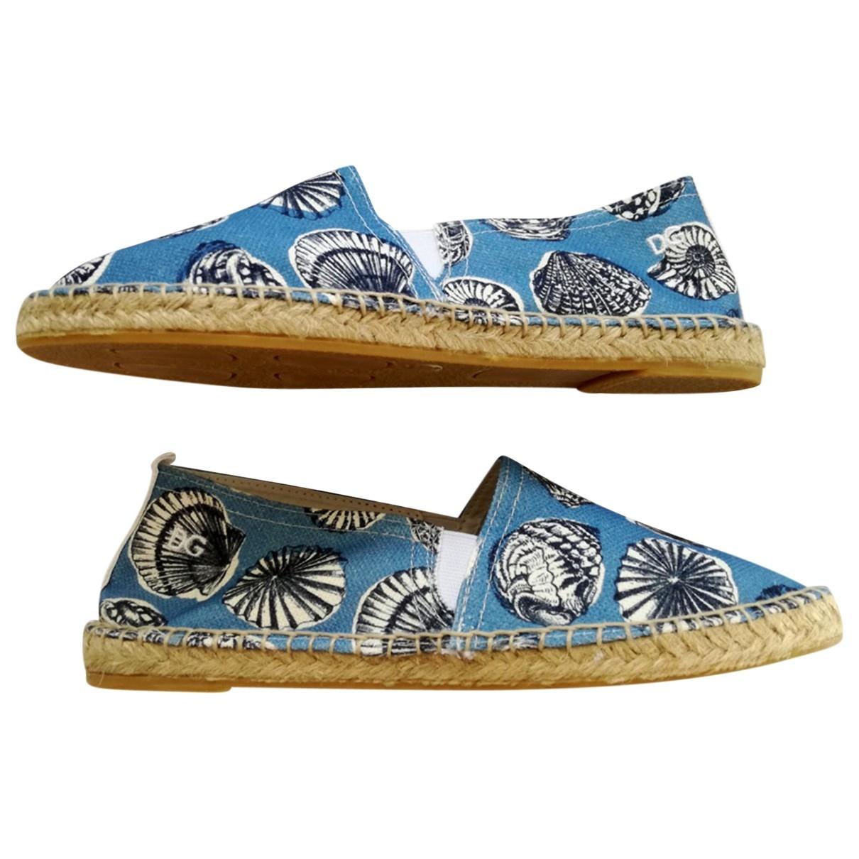 Dolce & Gabbana - Espadrilles   pour femme en toile - bleu