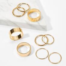Wide Ring Set 9pcs