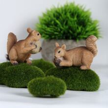 2pcs Squirrel Decorative Object