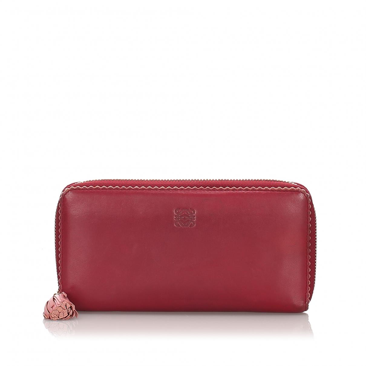 Loewe - Portefeuille   pour femme en cuir - rouge