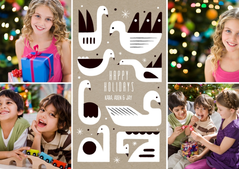 Holiday Photo Cards 5x7 Cards, Premium Cardstock 120lb with Rounded Corners, Card & Stationery -Holiday Doves