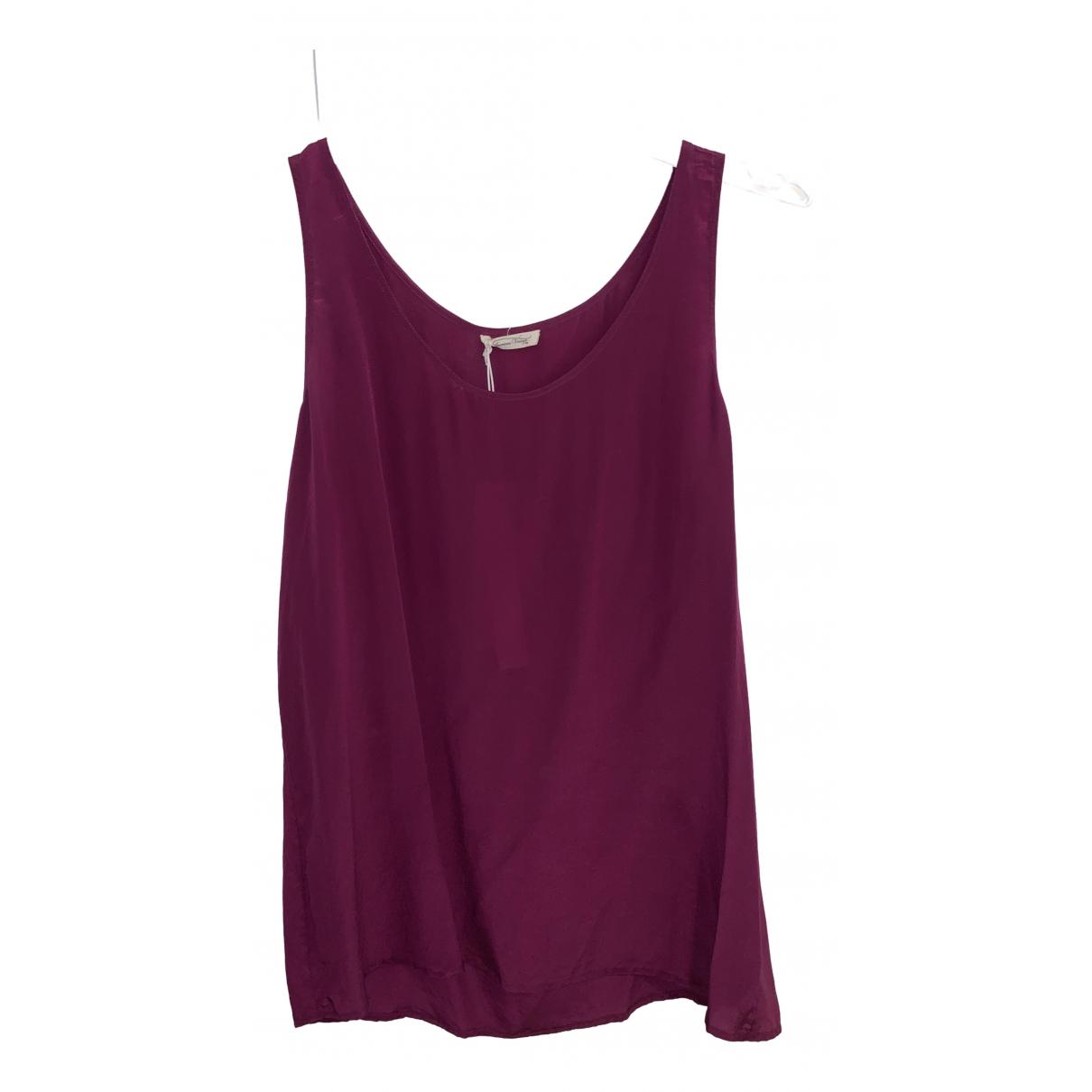 American Vintage - Top   pour femme en soie - violet