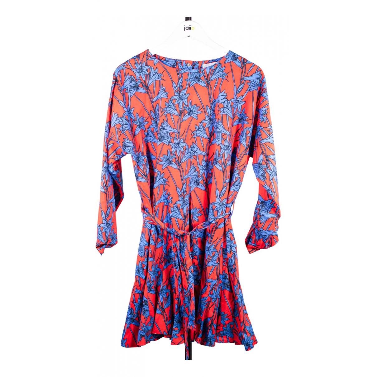 Modetrotter - Robe   pour femme en coton - rouge