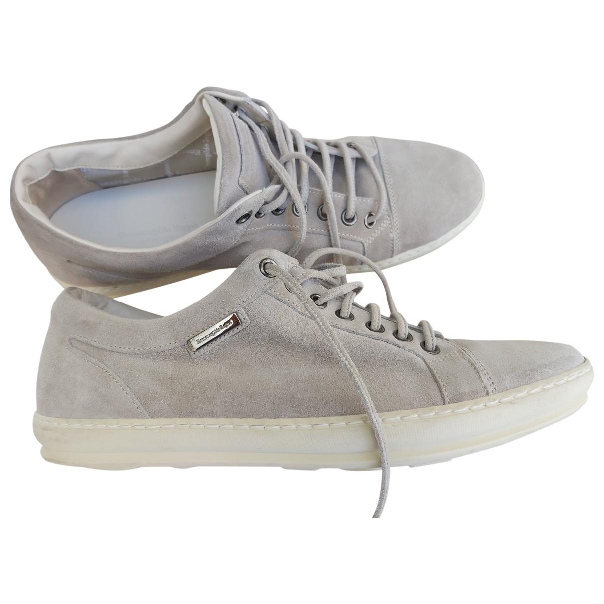 Ermenegildo Zegna \N Sneakers in  Beige Veloursleder