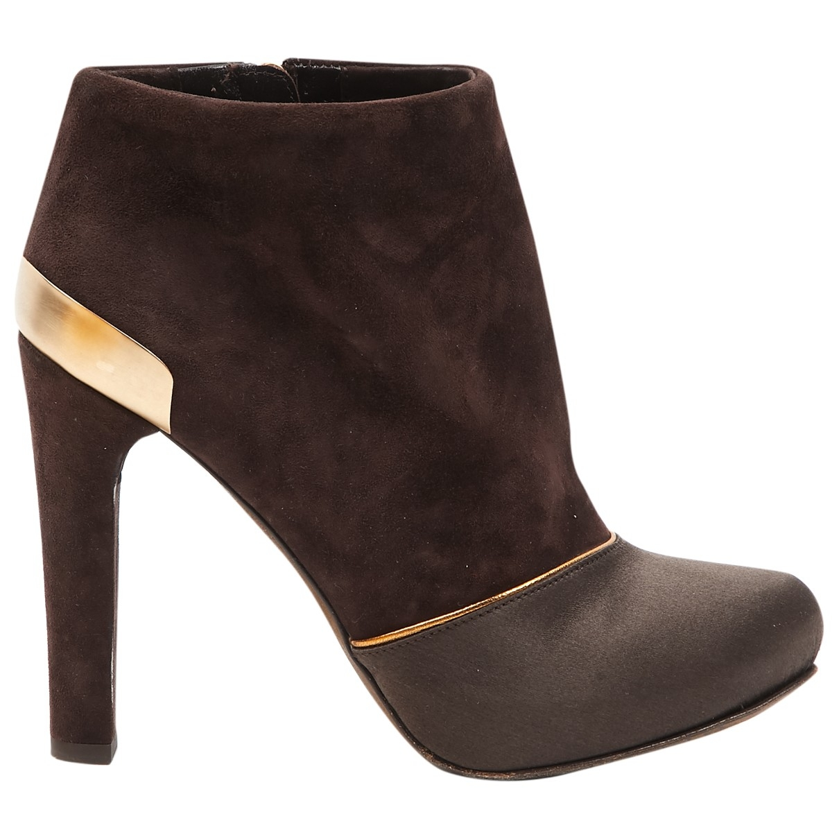 Fendi \N Brown Suede Ankle boots for Women 36 EU