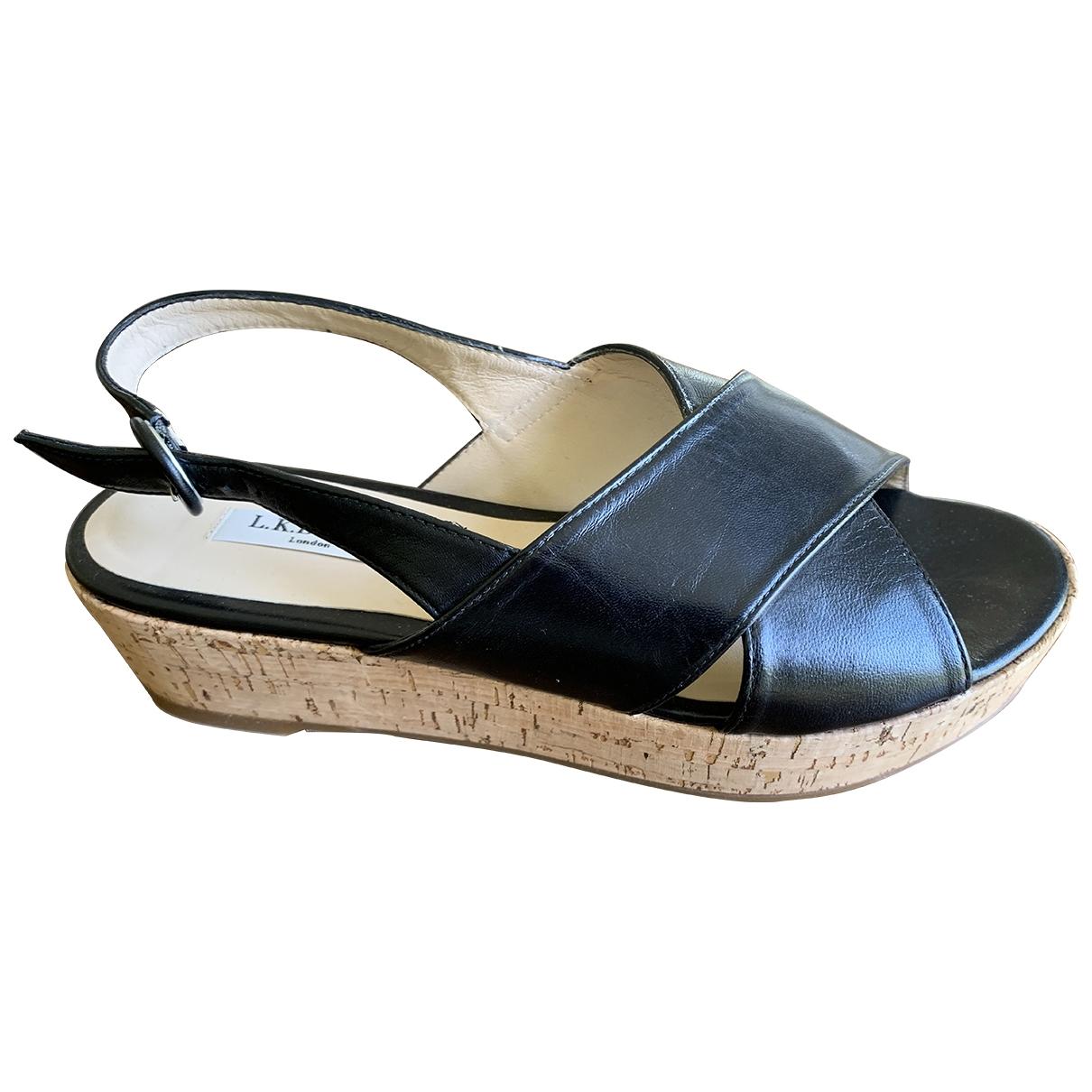 Lk Bennett - Sandales   pour femme en cuir - noir