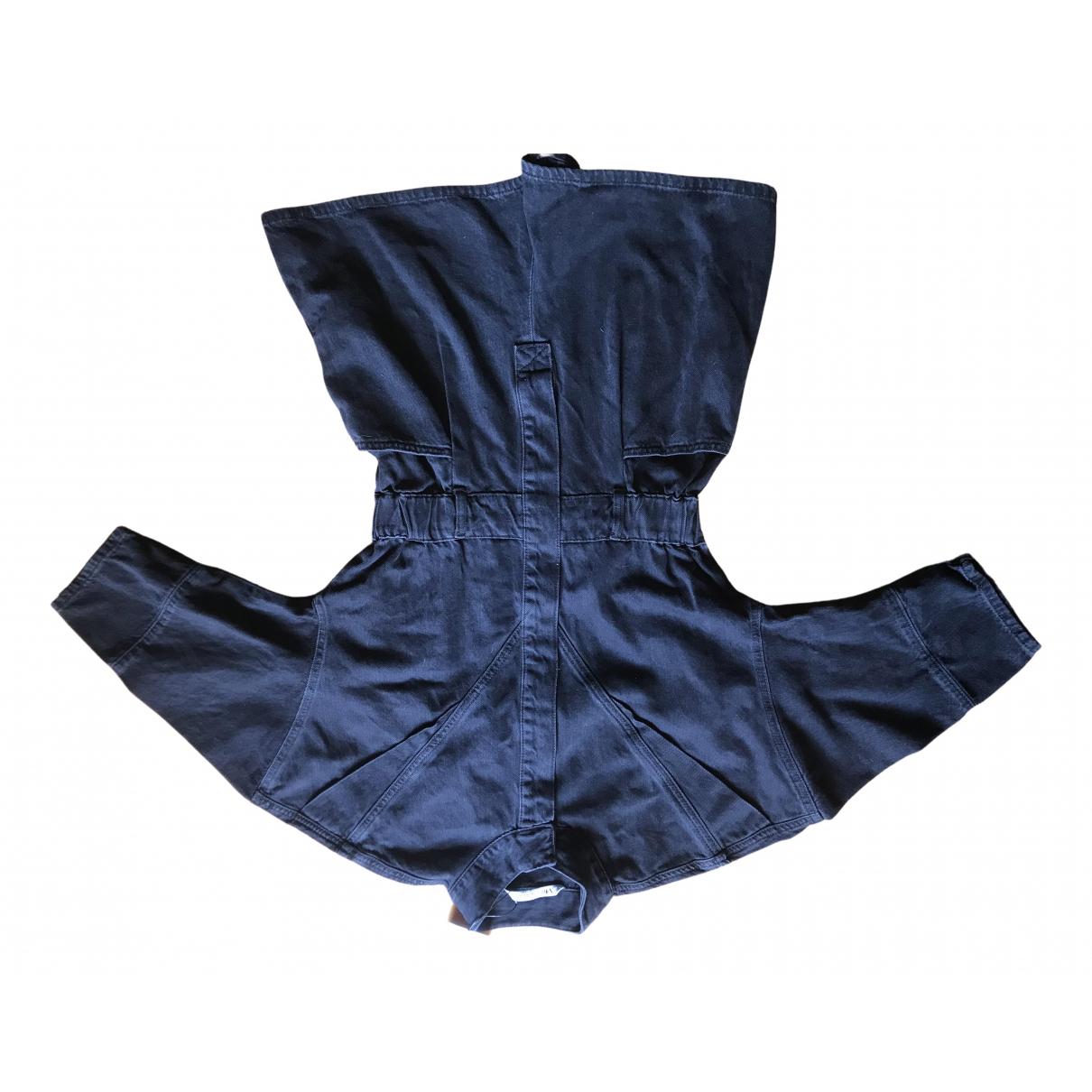 Zara - Combinaison   pour femme en denim - noir