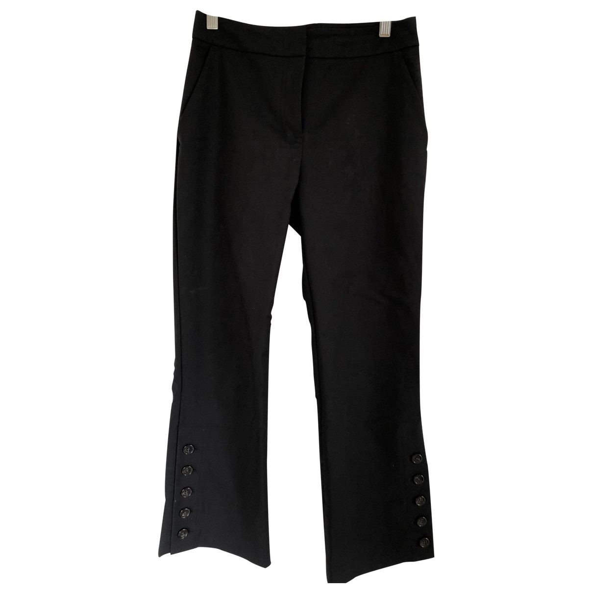 Dkny \N Black Cotton Trousers for Women 2 US