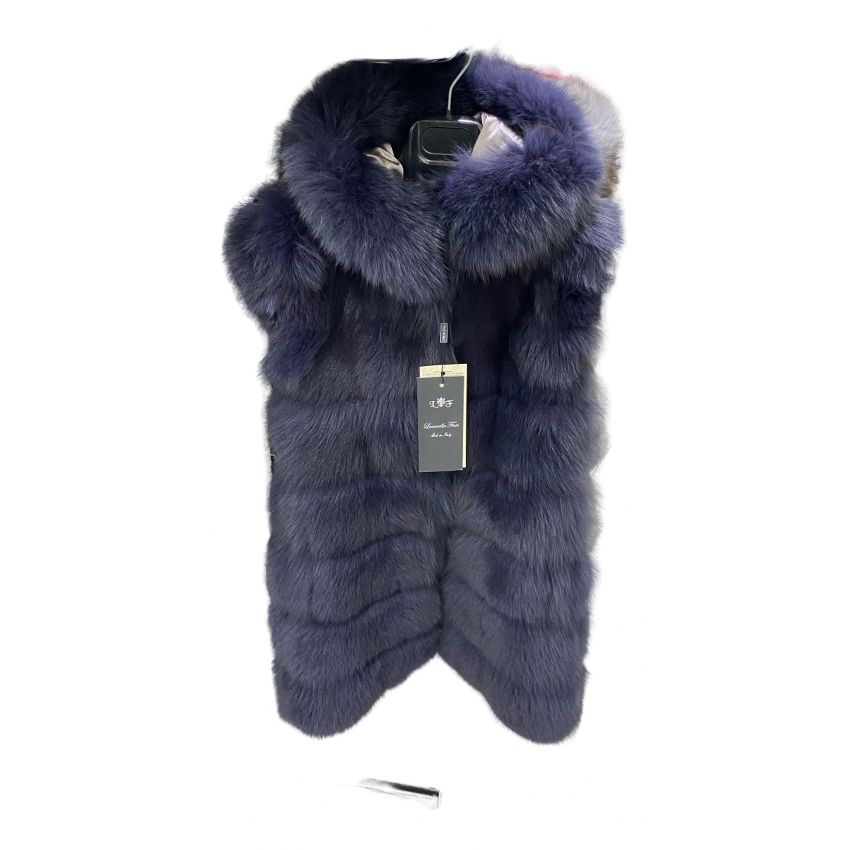 - Veste   pour femme en renard - bleu
