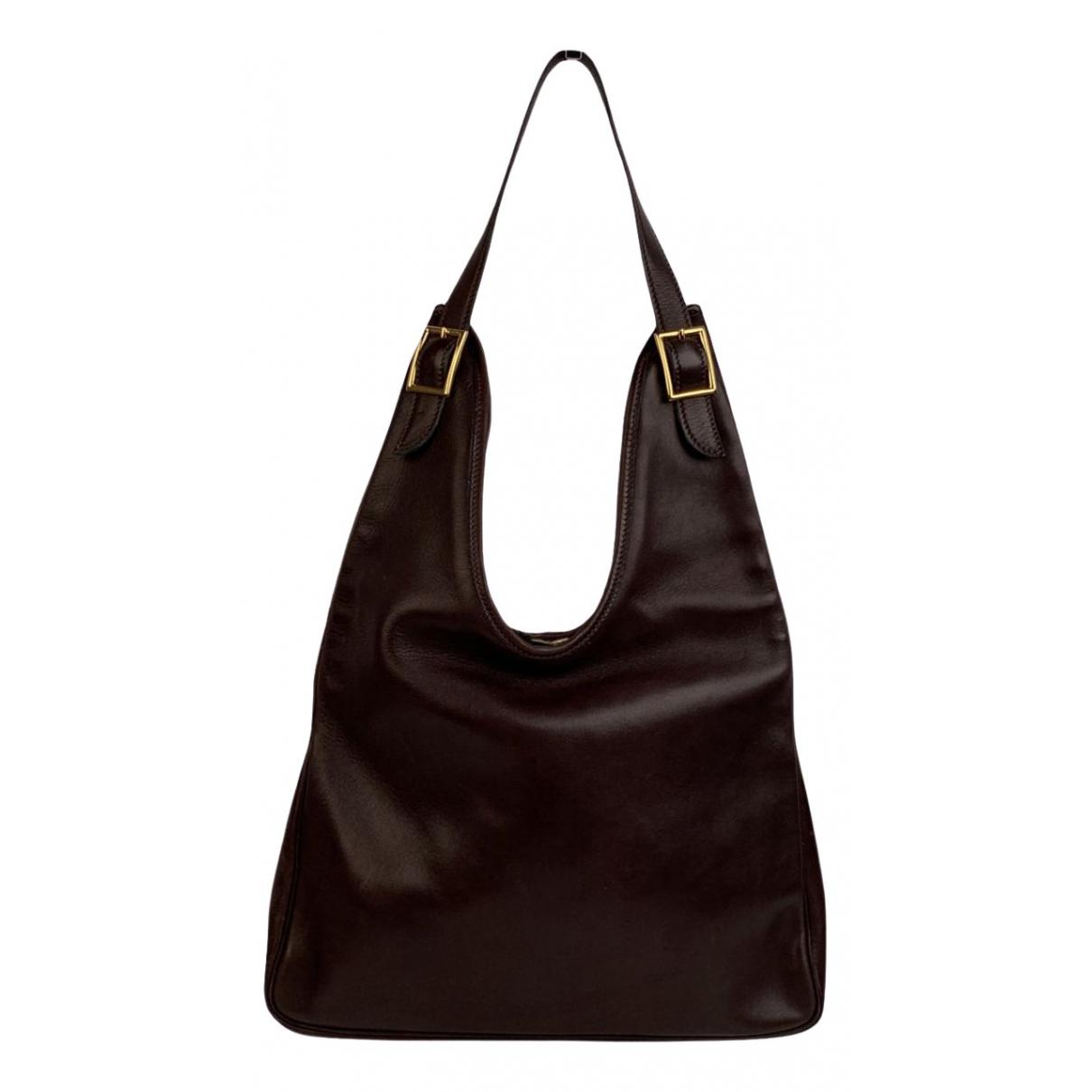 Hermès Massaï Brown Leather handbag for Women \N