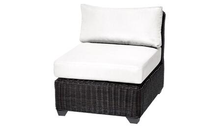 TKC050b-AS-WHITE Venice Armless Chair - Wheat and Sail White