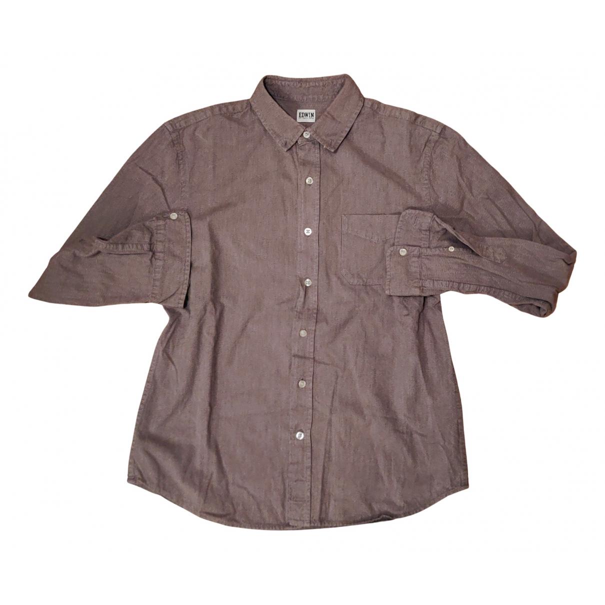 Edwin - Chemises   pour homme en coton - gris