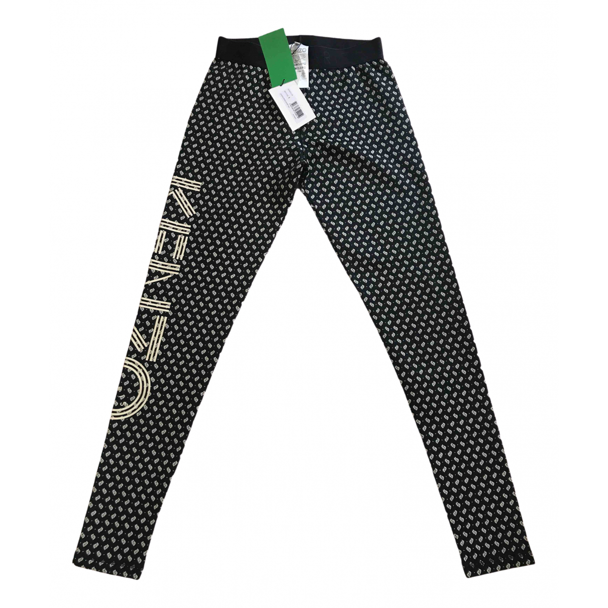 Kenzo \N Black Cotton Trousers for Women S International