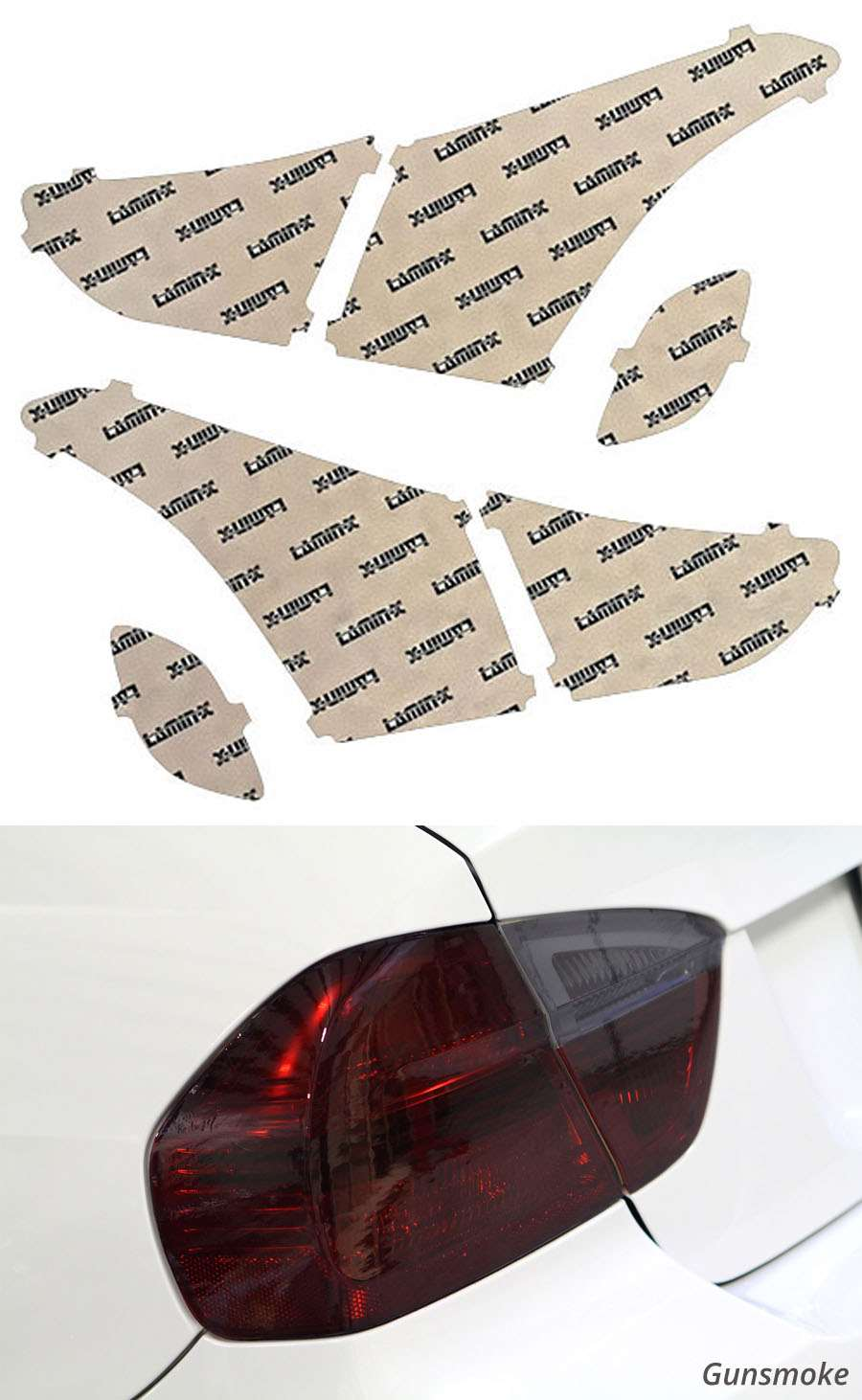 Hyundai Elantra GT 13-15 Gunsmoke Tail Light Covers Lamin-X HY225G