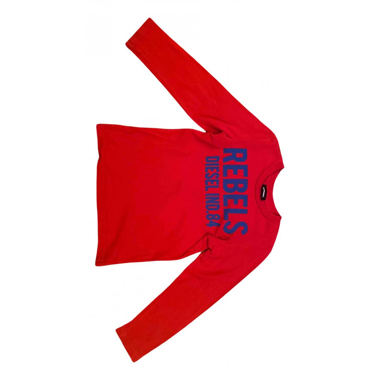 Diesel - Top   pour enfant en coton - rouge