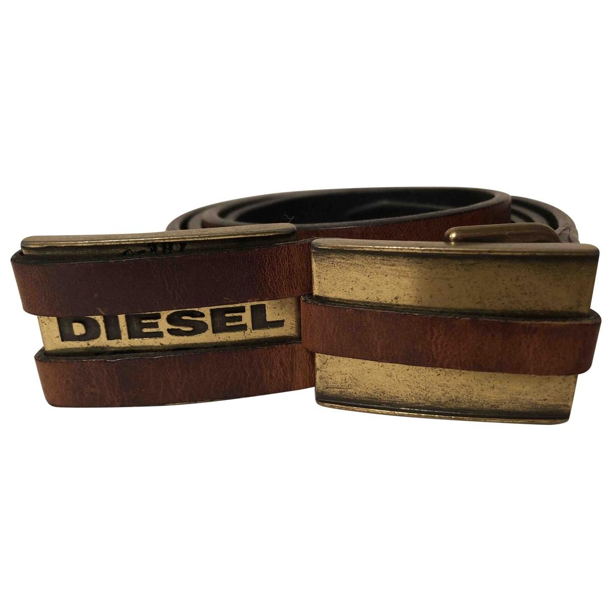 Diesel \N Guertel in  Braun Leder