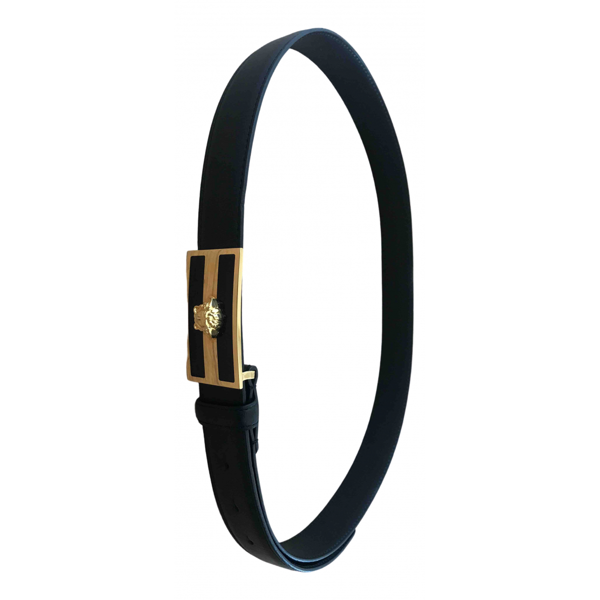 Versace \N Black Leather belt for Men 95 cm