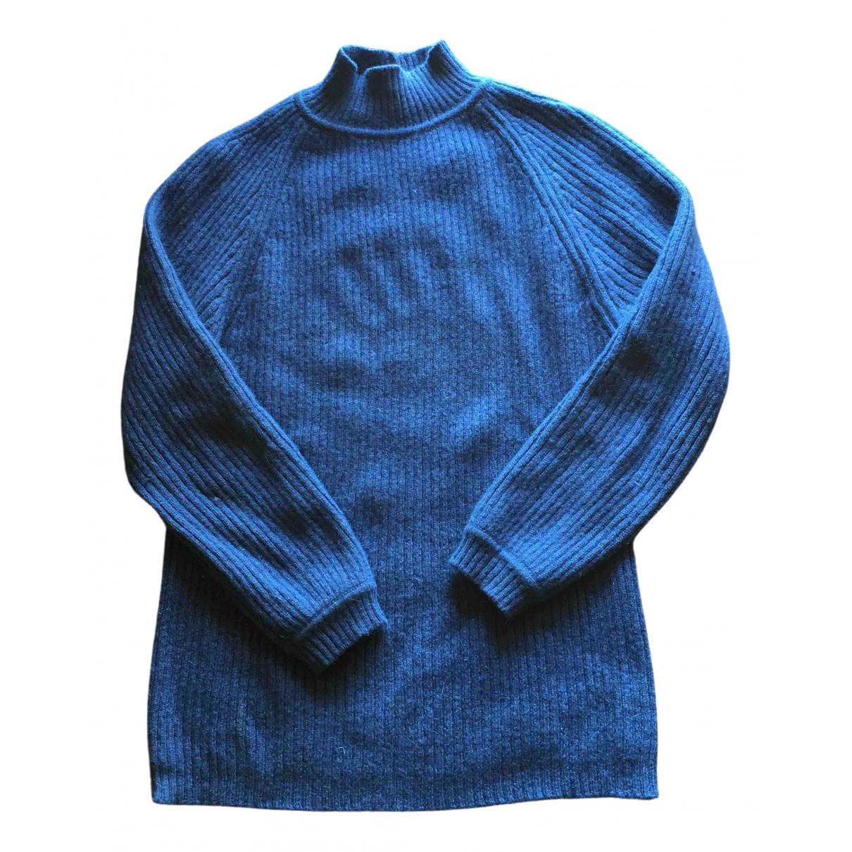Non Signe / Unsigned \N Pullover.Westen.Sweatshirts  in  Blau Kaschmir