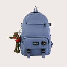 Guys Pocket Front Backpack With Bag Charm
