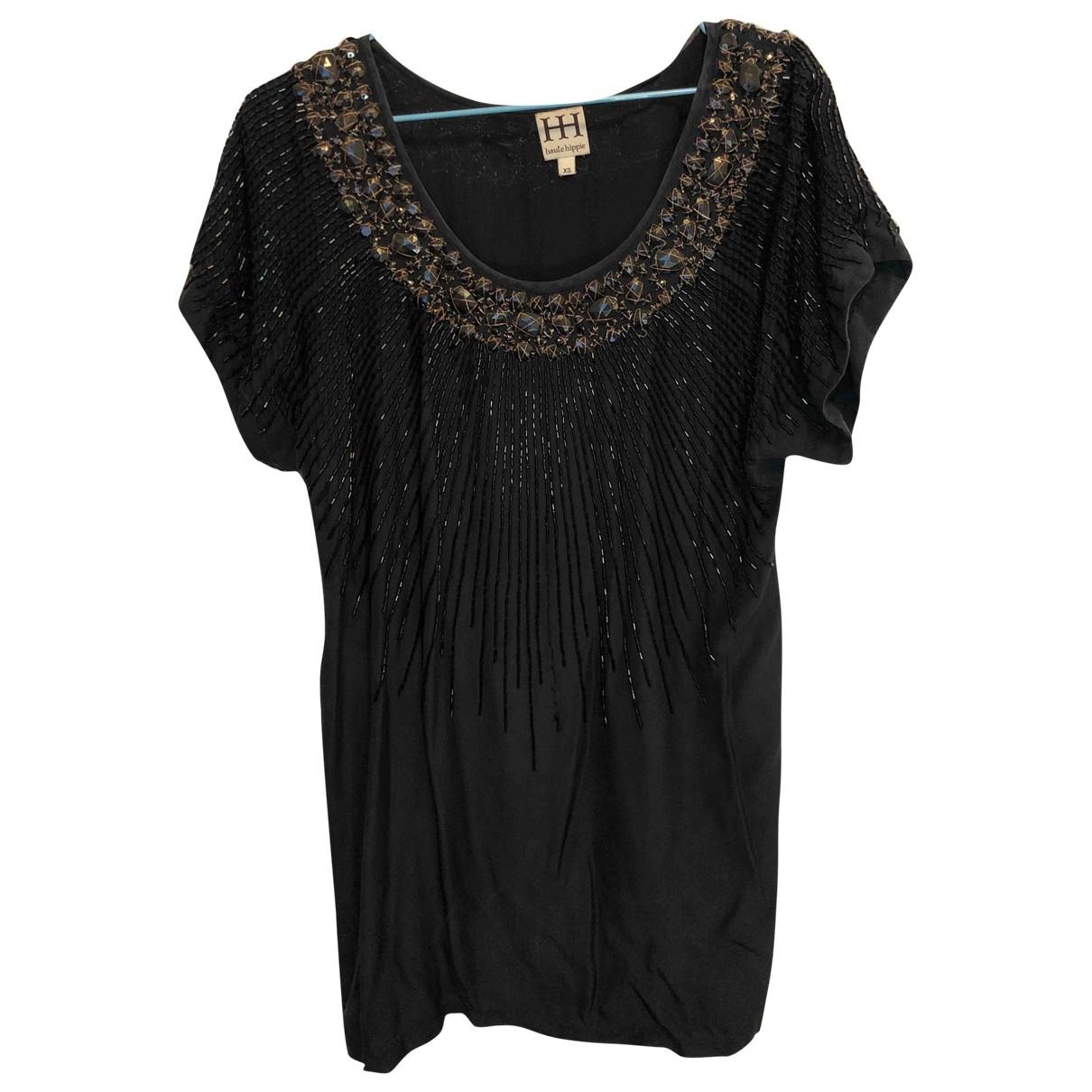 Haute Hippie - Robe   pour femme en soie - noir
