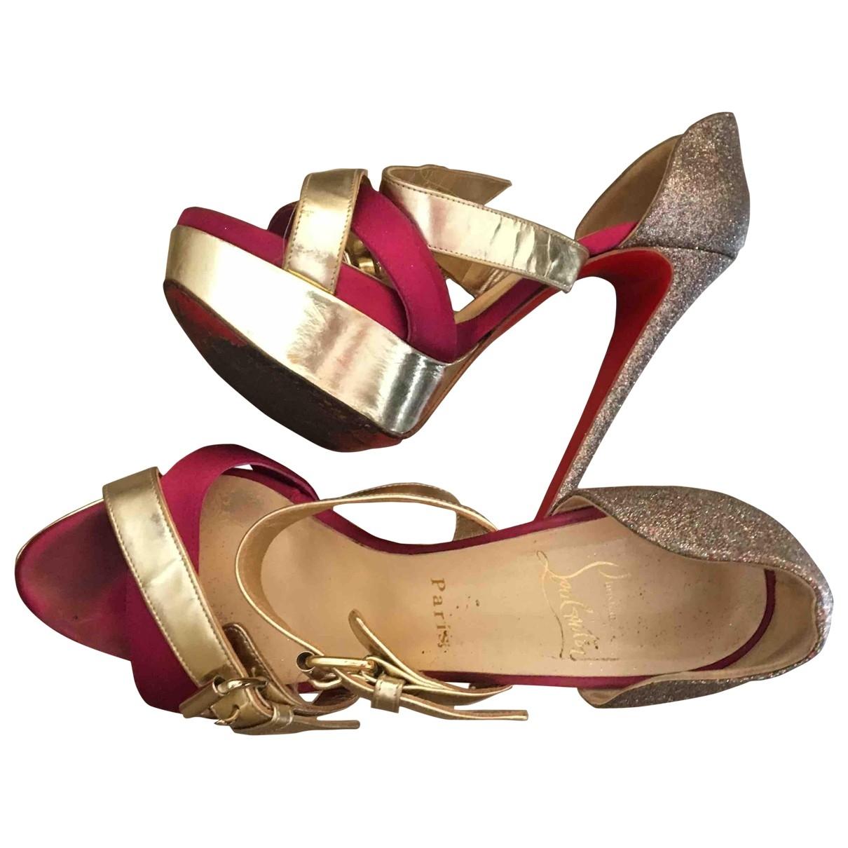 Christian Louboutin \N Silver Glitter Heels for Women 38 EU