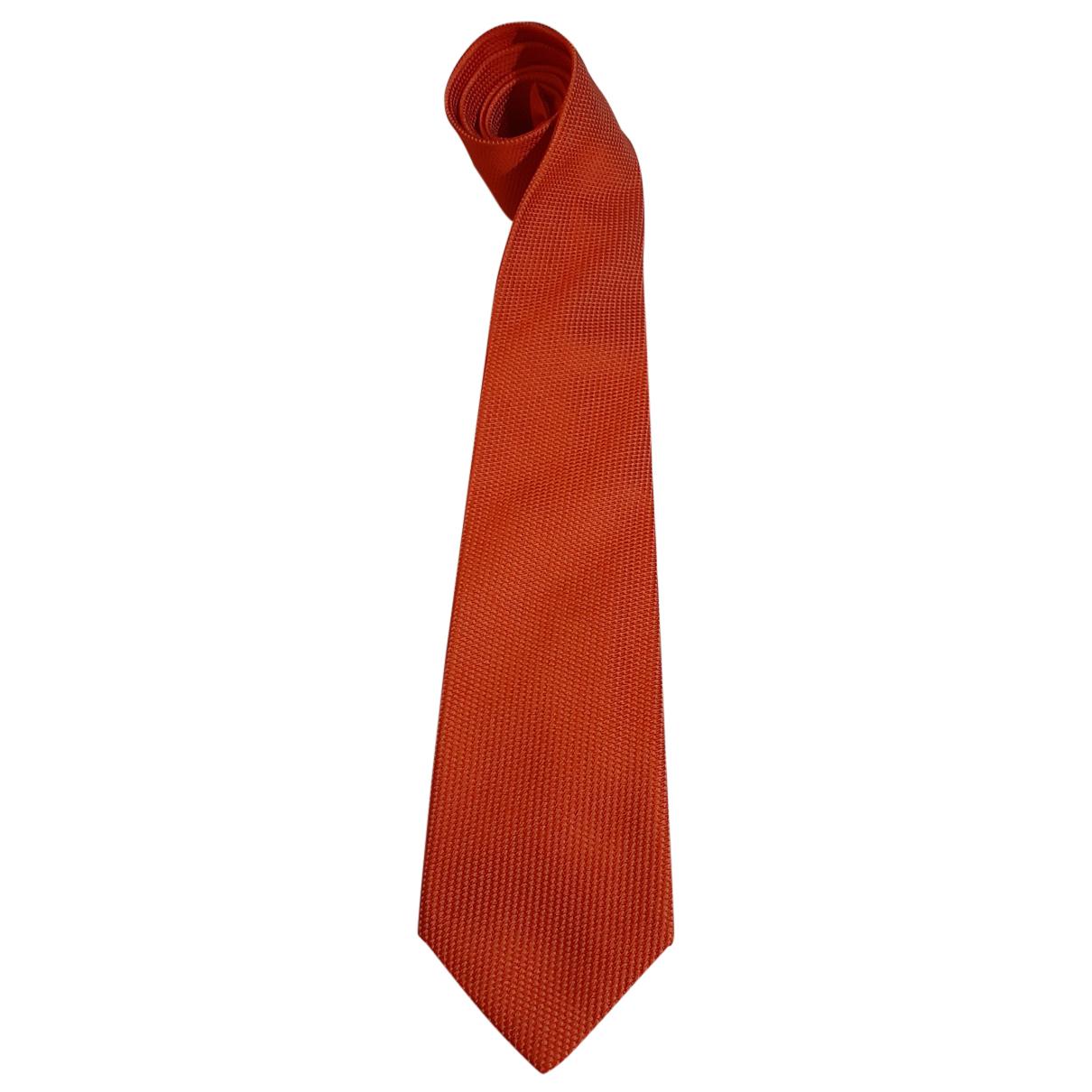 Drakes - Cravates   pour homme en soie - orange