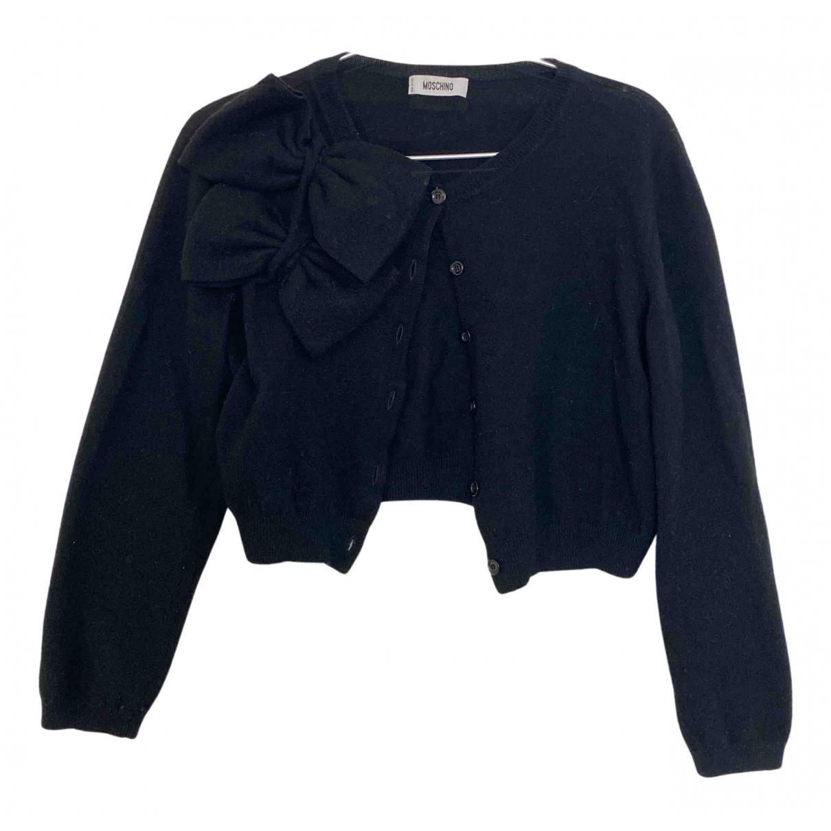 Moschino N Black Wool Knitwear for Women 34 FR