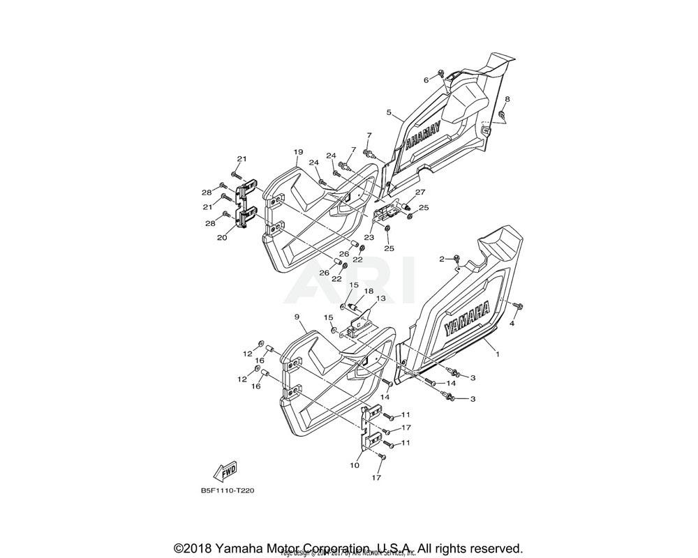 Yamaha OEM 1XD-F1731-00-00 COVER, SIDE 3