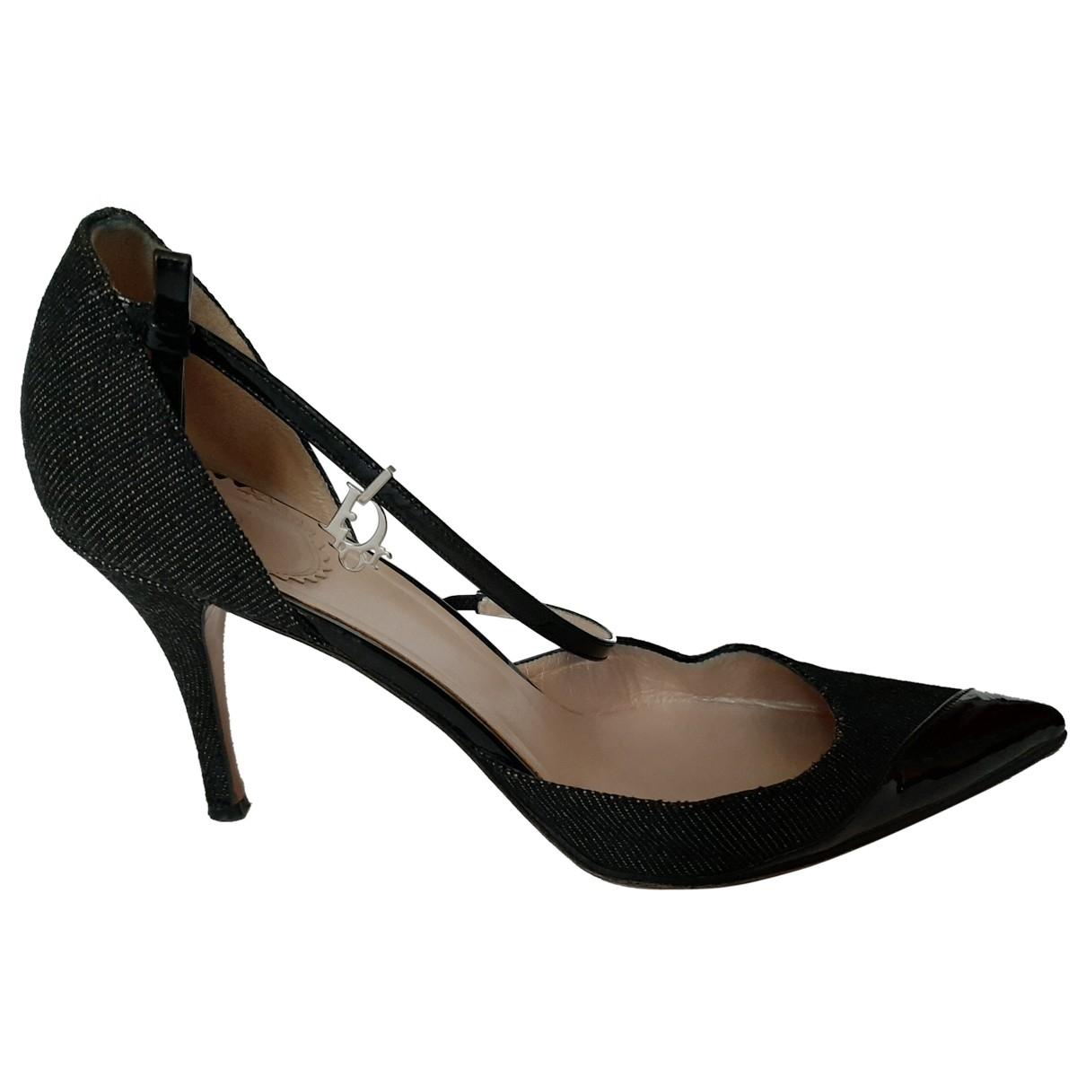 Dior \N Navy Cloth Heels for Women 36.5 EU