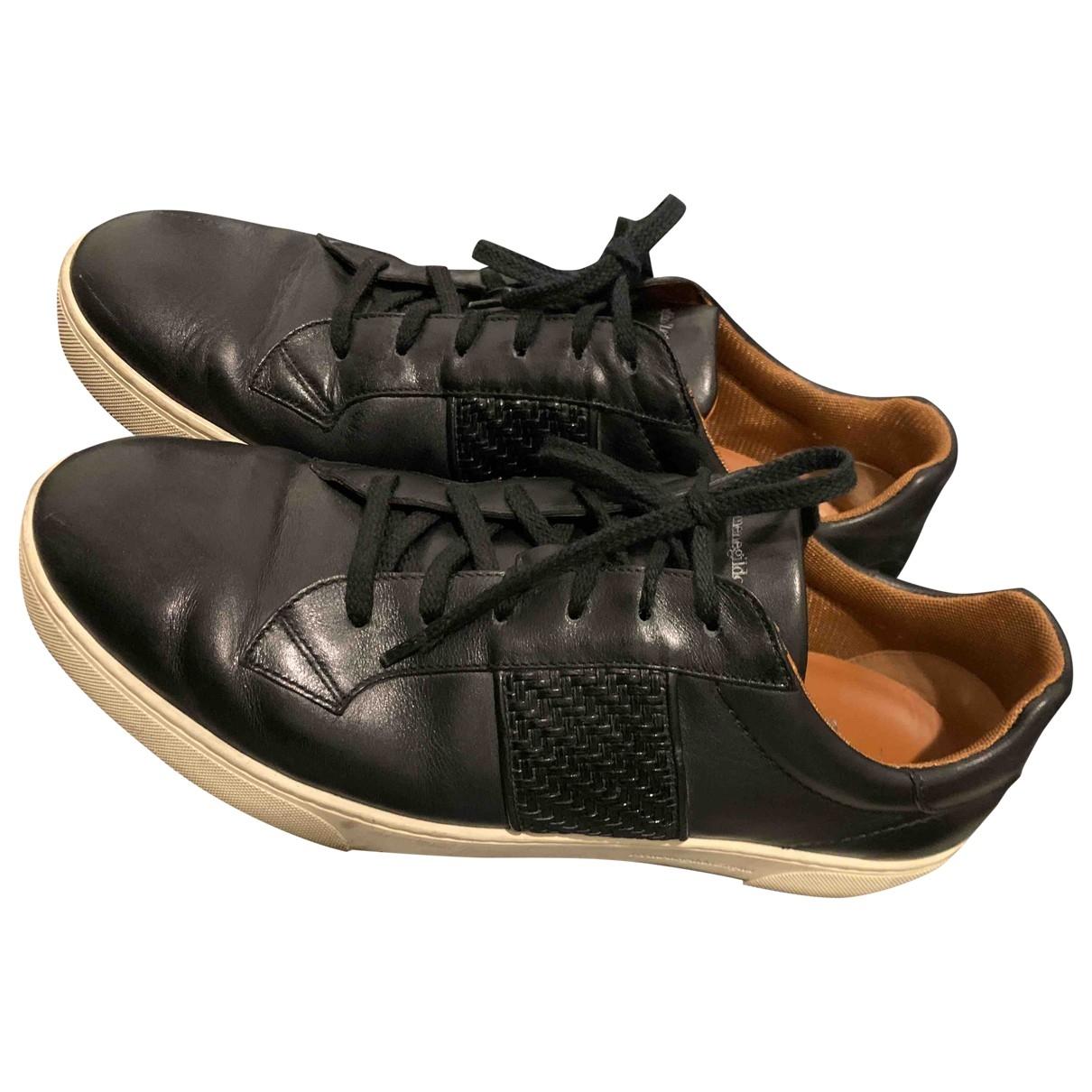 Ermenegildo Zegna - Baskets   pour homme en cuir - noir