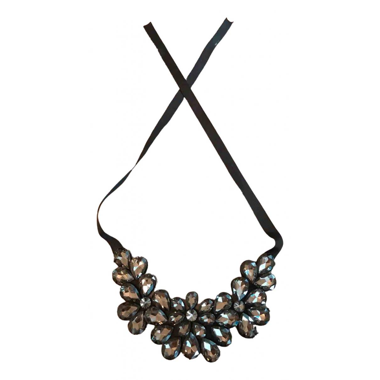 - Collier Motifs Floraux pour femme en cristal - noir
