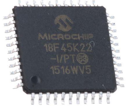 Microchip PIC18F45K22-I/PT, 8bit PIC Microcontroller, PIC18F, 16MHz, 32.768 kB, 256 B Flash, 44-Pin TQFP