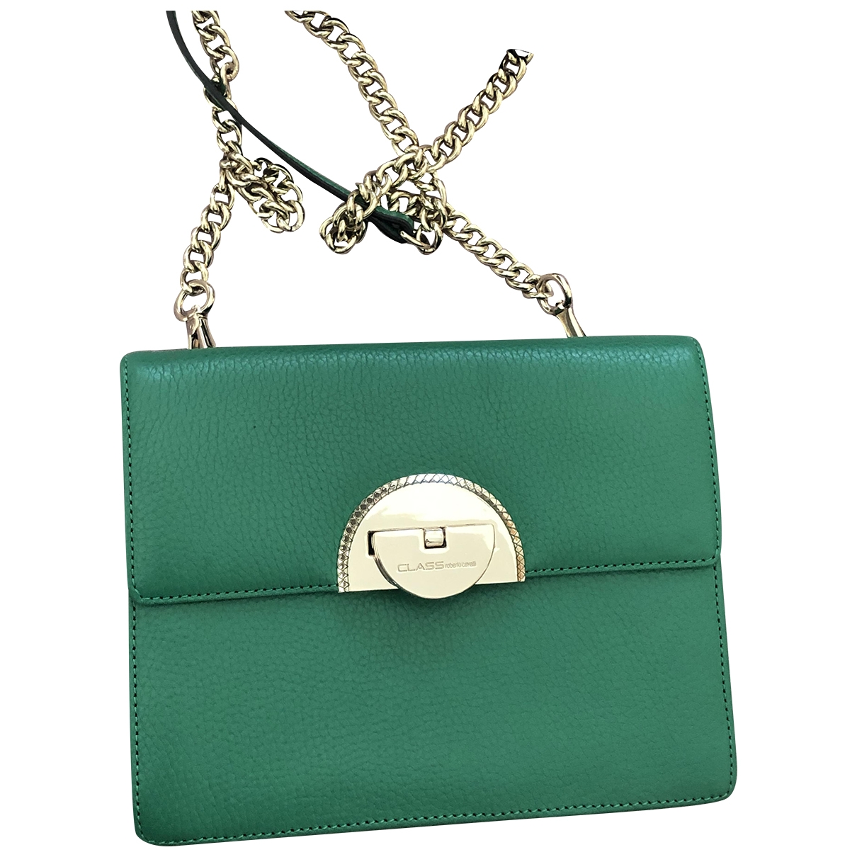 Roberto Cavalli \N Handtasche in  Gruen Leder