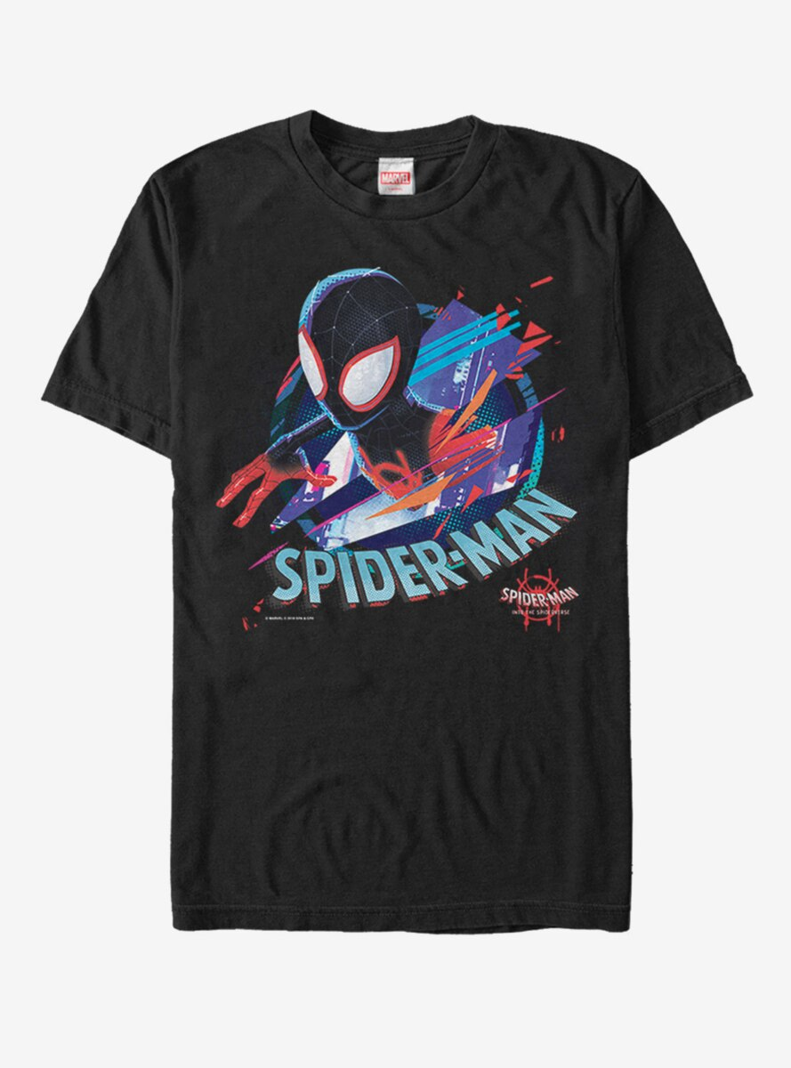 Marvel Spider-Man: Into the Spider-Verse Cracked Spider T-Shirt