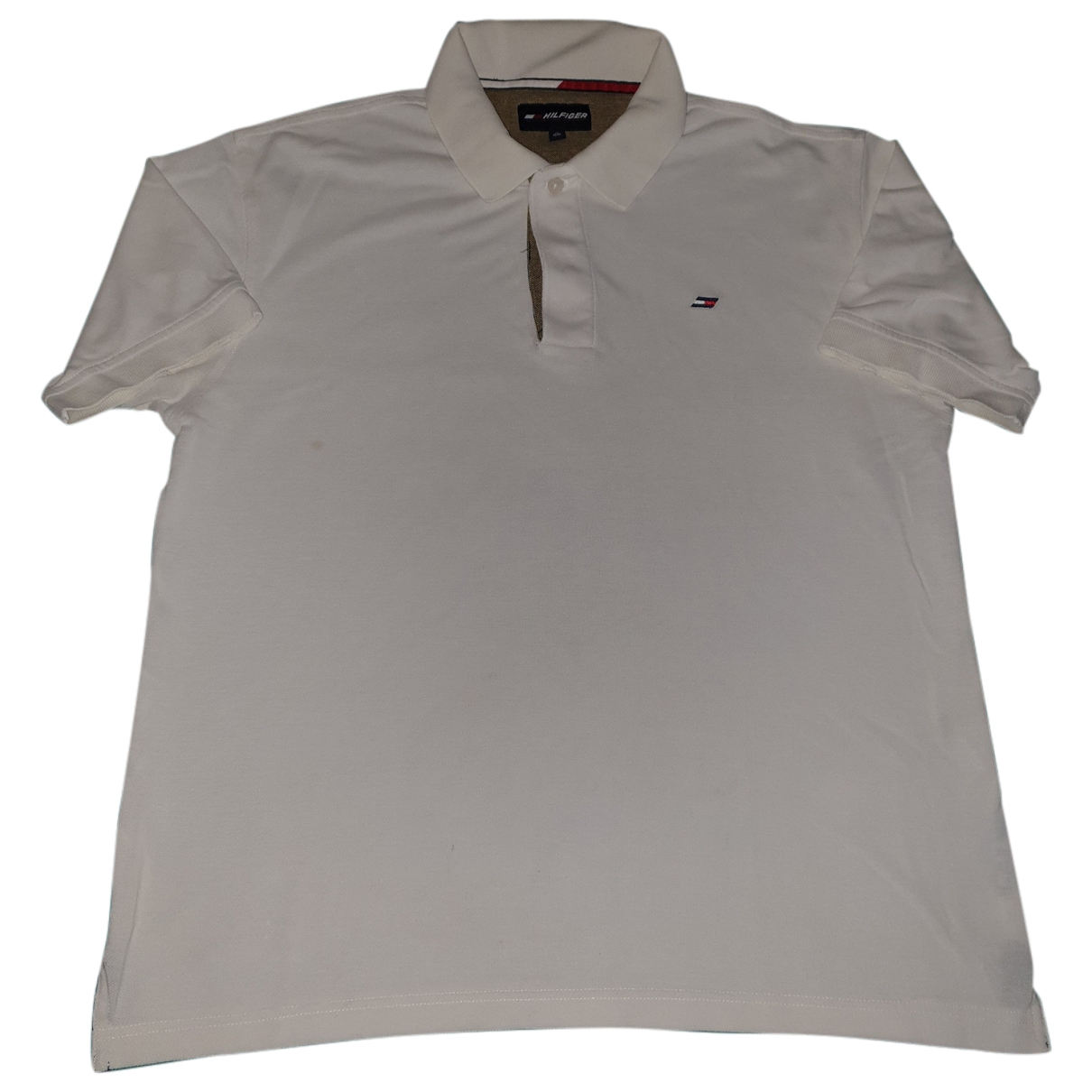 Polo en Algodon Blanco Hilfiger Collection